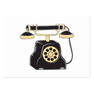 Custom Antique Rotary Dial Telephone Collector Large Business Cards (Pack Of 100)