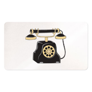 Custom Antique Rotary Dial Telephone Collector Double-Sided Standard Business Cards (Pack Of 100)