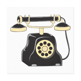Custom Antique Rotary Dial Telephone Collector Canvas Print