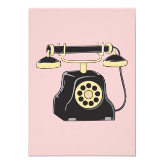 Custom Antique Rotary Dial Telephone Collector Card