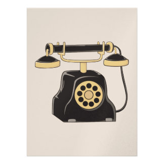 Custom Antique Rotary Dial Telephone Collector Custom Announcements