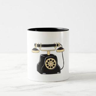 Custom Antique Rotary Dial Telephone Collector Mug