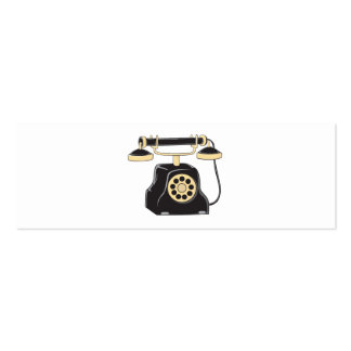 Custom Antique Rotary Dial Telephone Collector Mug Double-Sided Mini Business Cards (Pack Of 20)
