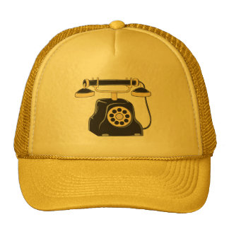 Custom Antique Rotary Dial Telephone Collector Mug Mesh Hat