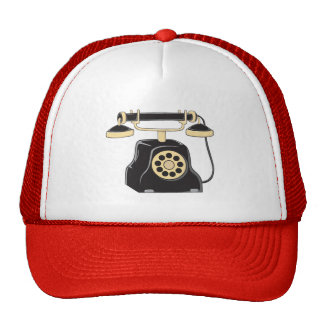 Custom Antique Rotary Dial Telephone Collector Mug Hat