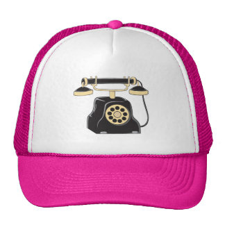 Custom Antique Rotary Dial Telephone Collector Mug Trucker Hats