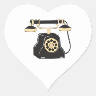 Custom Antique Rotary Dial Telephone Collector Mug Heart Sticker