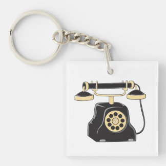 Custom Antique Rotary Dial Telephone Collector Mug Keychain