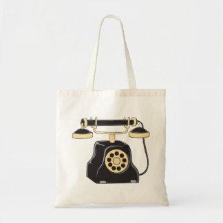 Custom Antique Rotary Dial Telephone Collector Mug Tote Bag