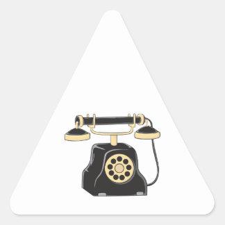 Custom Antique Rotary Dial Telephone Collector Mug Triangle Sticker