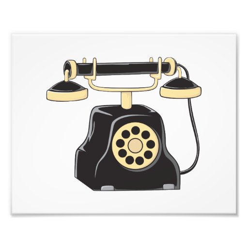 Custom Antique Rotary Dial Telephone Collector Photo Art