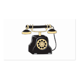 Custom Antique Rotary Dial Telephone Collector Pin Double-Sided Standard Business Cards (Pack Of 100)