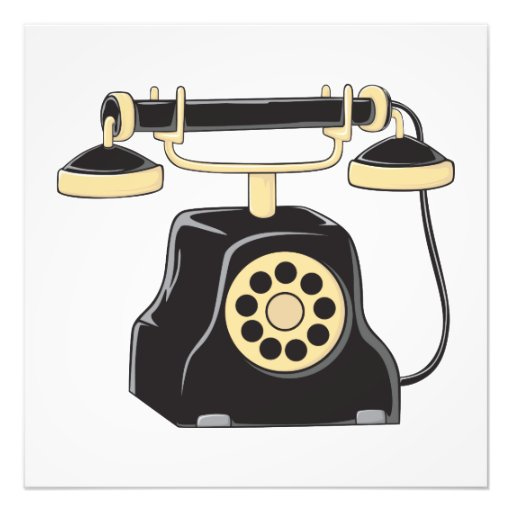 Custom Antique Rotary Dial Telephone Collector Pin Photographic Print