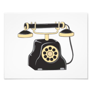 Custom Antique Rotary Dial Telephone Collector Pin Photograph