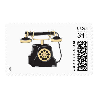 Custom Antique Rotary Dial Telephone Collector Stamp