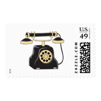 Custom Antique Rotary Dial Telephone Collector Postage