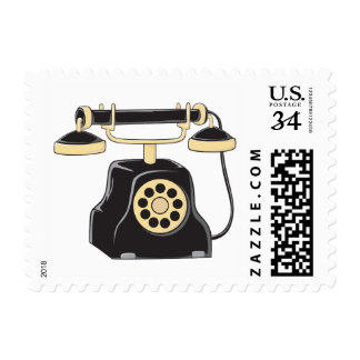 Custom Antique Rotary Dial Telephone Collector Stamps