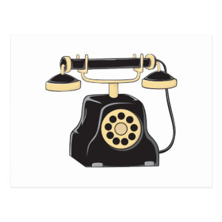 Custom Antique Rotary Dial Telephone Collector Postcard