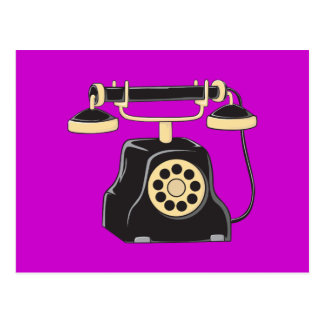 Custom Antique Rotary Dial Telephone Collector Post Card