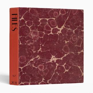 CUSTOM Antique Style Book Marbled File Binder