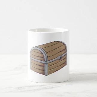 Custom Antique Wooden Pirate Treasure Chest Button Coffee Mug