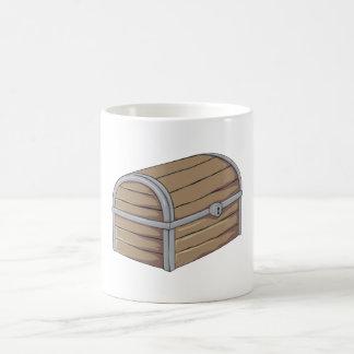 Custom Antique Wooden Pirate Treasure Chest Button Magic Mug