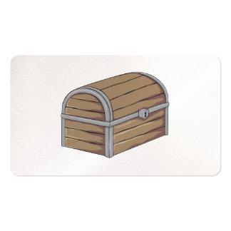 Custom Antique Wooden Pirate Treasure Chest Cards