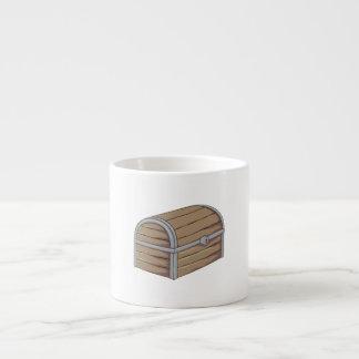 Custom Antique Wooden Pirate Treasure Chest Cards Espresso Cup