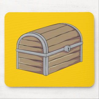 Custom Antique Wooden Pirate Treasure Chest Cards Mouse Pads