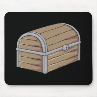 Custom Antique Wooden Pirate Treasure Chest Cards Mousepad
