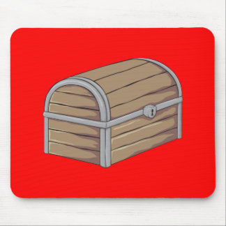 Custom Antique Wooden Pirate Treasure Chest Cards Mousepads