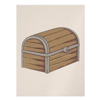 Custom Antique Wooden Pirate Treasure Chest Invitation