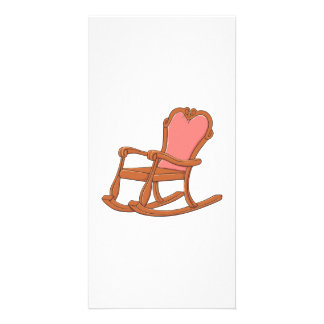 Custom Antique Wooden Rocking Chair Greeting Cards