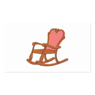Custom Antique Wooden Rocking Chair Greeting Cards Double-Sided Standard Business Cards (Pack Of 100)
