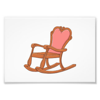 Custom Antique Wooden Rocking Chair Greeting Cards Art Photo