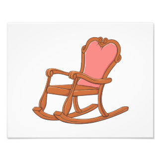 Custom Antique Wooden Rocking Chair Greeting Cards Photo