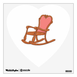 Custom Antique Wooden Rocking Chair Greeting Cards Wall Decal