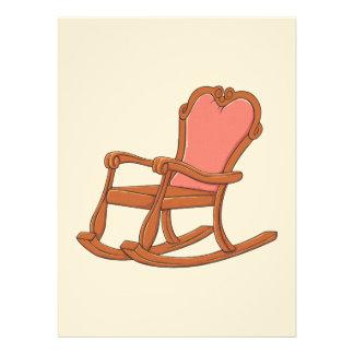 Custom Antique Wooden Rocking Chair Invitations