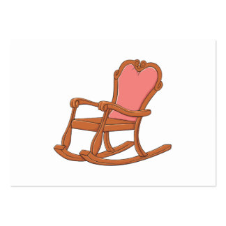 Custom Antique Wooden Rocking Chair Invitations Large Business Cards (Pack Of 100)