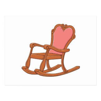 Custom Antique Wooden Rocking Chair Invitations Postcard