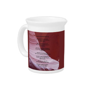 Custom Apache Wedding Blessing, Sandstone Canyon Beverage Pitcher