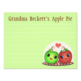 Custom Apple Friends Recipe Card Template