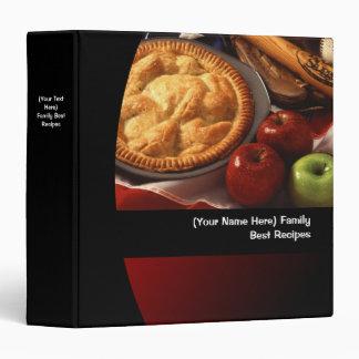 Custom Apple Pie Image Recipe/Menu Food Binder