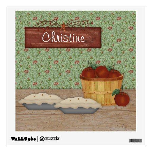 Custom Apple Pies Wall Decal