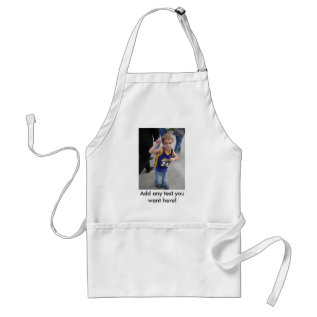 Custom Apron With Picture And Text at Zazzle