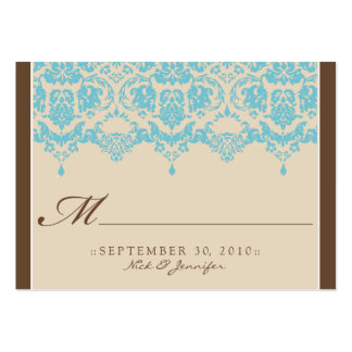 :custom: Aqua Darling Placecard Large Business Cards (Pack Of 100)