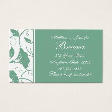 Professional Business Custom Aqua Green Change of Address Cards