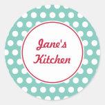 Custom Aqua Kitchen Stickers