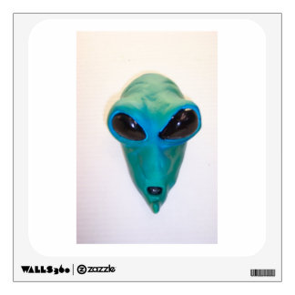 custom area 51 alien head wall decal
