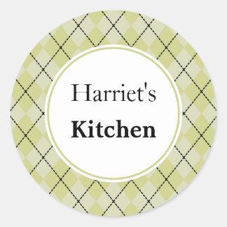 Custom Argyle Kitchen Stickers
